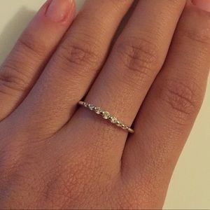 Jewelry - Silver Diamond Stacker Ring